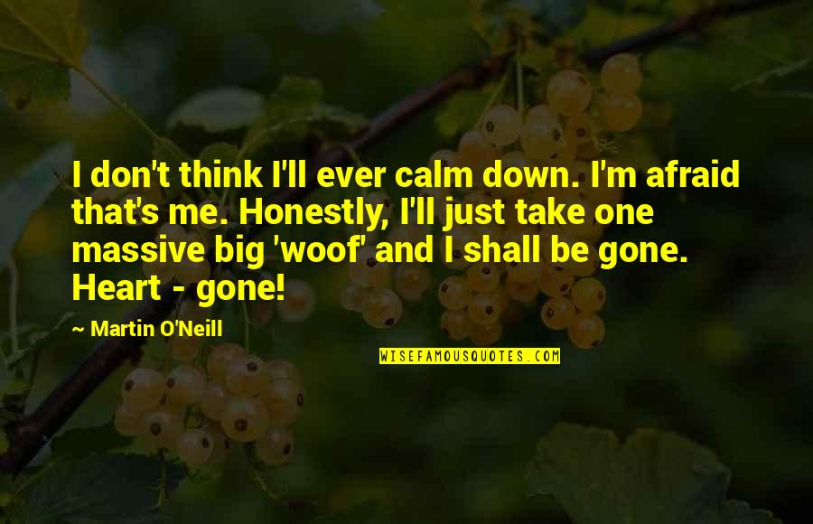 You Calm Me Down Quotes By Martin O'Neill: I don't think I'll ever calm down. I'm