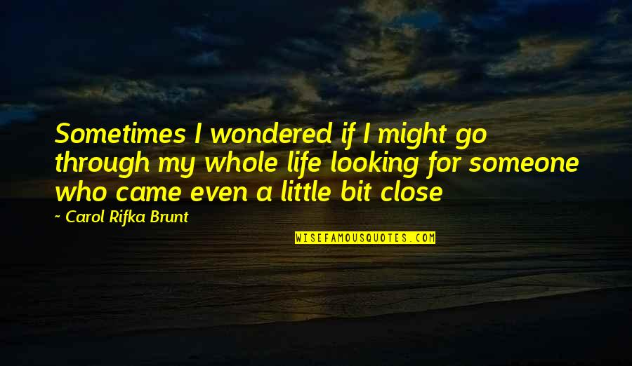 You Came Into My Life Quotes By Carol Rifka Brunt: Sometimes I wondered if I might go through