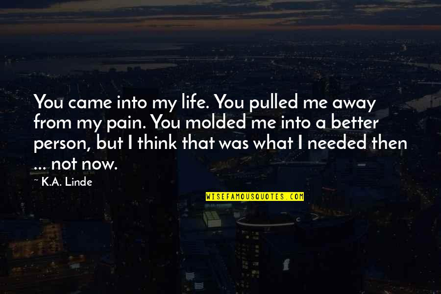 You Came Into My Life Quotes By K.A. Linde: You came into my life. You pulled me