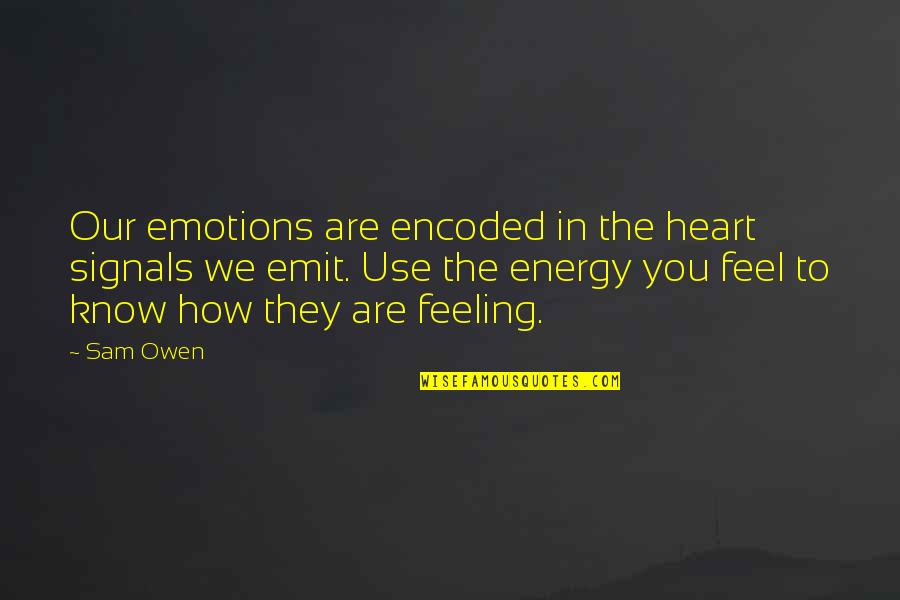 You Can Make Your Dreams Come True Quotes By Sam Owen: Our emotions are encoded in the heart signals