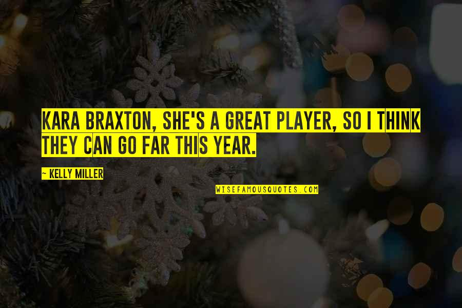 You Can Only Go So Far Quotes By Kelly Miller: Kara Braxton, she's a great player, so I