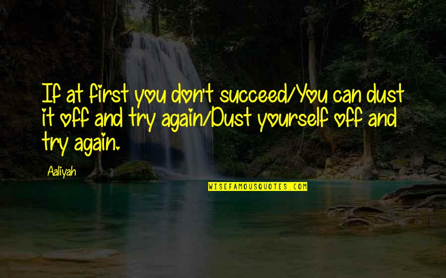 You Can't Succeed Quotes By Aaliyah: If at first you don't succeed/You can dust
