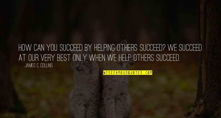 You Can't Succeed Quotes By James C. Collins: How can you succeed by helping others succeed?