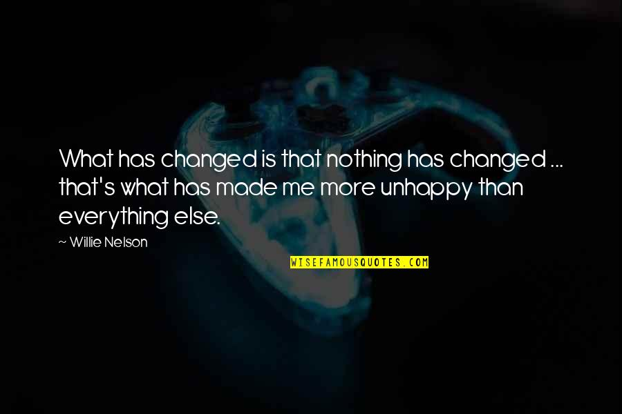 You Changed Everything Quotes By Willie Nelson: What has changed is that nothing has changed