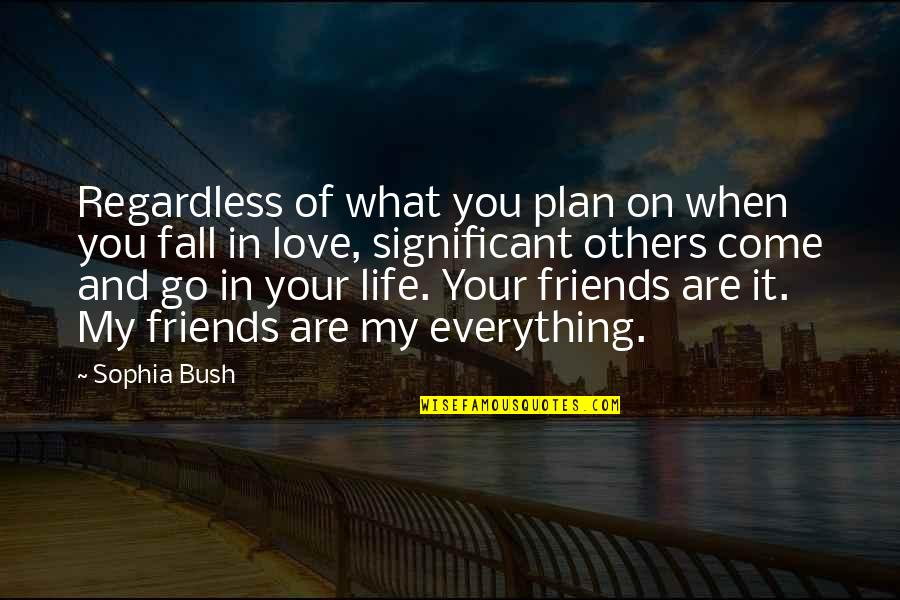 You Come In My Life Quotes By Sophia Bush: Regardless of what you plan on when you
