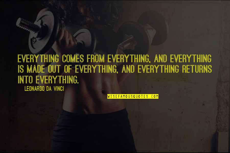 You Da Best Quotes By Leonardo Da Vinci: Everything comes from everything, and everything is made