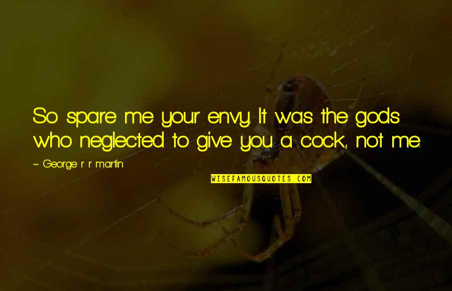 You Envy Me Quotes By George R R Martin: So spare me your envy. It was the
