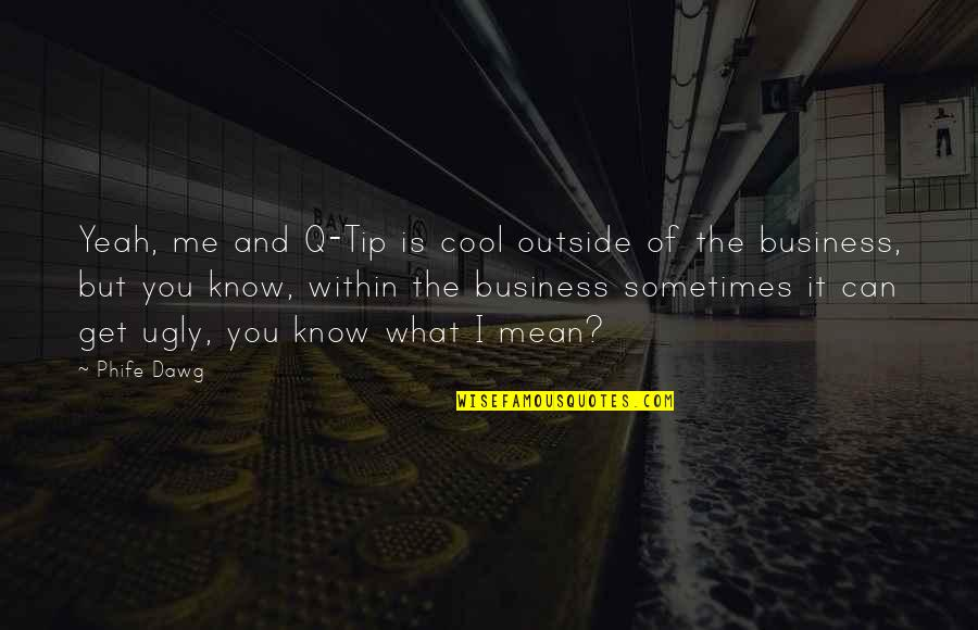 You Get Me Quotes By Phife Dawg: Yeah, me and Q-Tip is cool outside of
