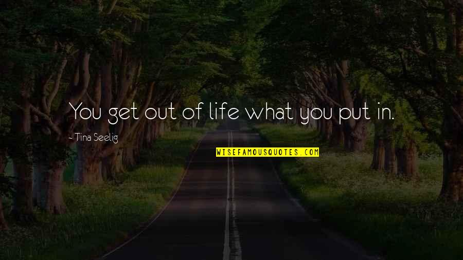 You Get What You Put Into Life Quotes By Tina Seelig: You get out of life what you put