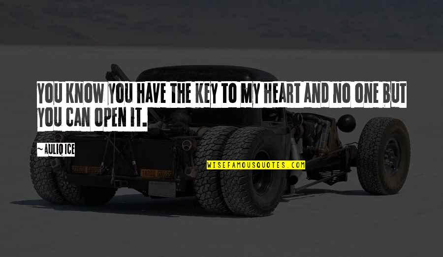 You Have My Heart Quotes By Auliq Ice: You know you have the key to my