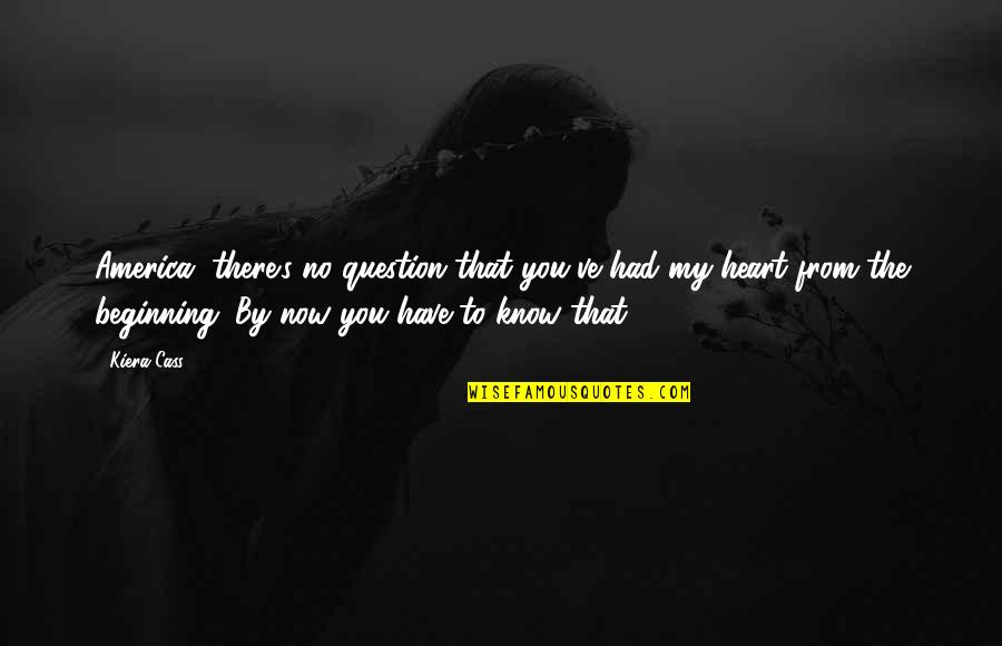 You Have My Heart Quotes By Kiera Cass: America, there's no question that you've had my