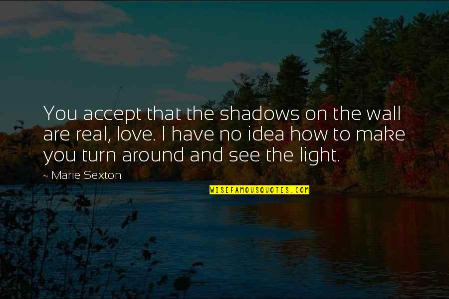 You Have No Idea Love Quotes By Marie Sexton: You accept that the shadows on the wall