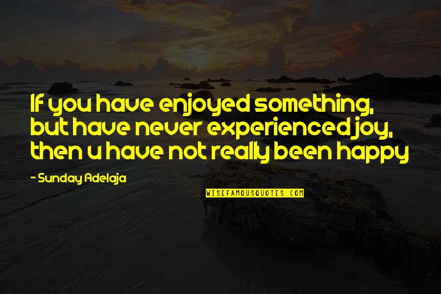 You Have Purpose Quotes By Sunday Adelaja: If you have enjoyed something, but have never