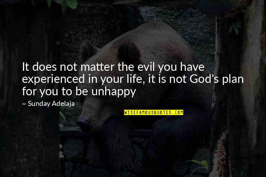 You Have Purpose Quotes By Sunday Adelaja: It does not matter the evil you have