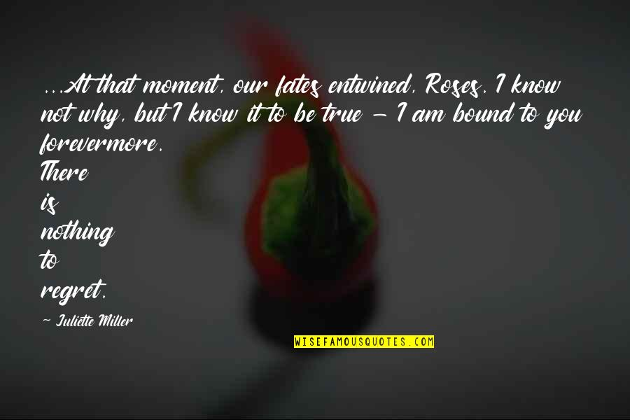 You Know Nothing Quotes By Juliette Miller: ...At that moment, our fates entwined, Roses. I