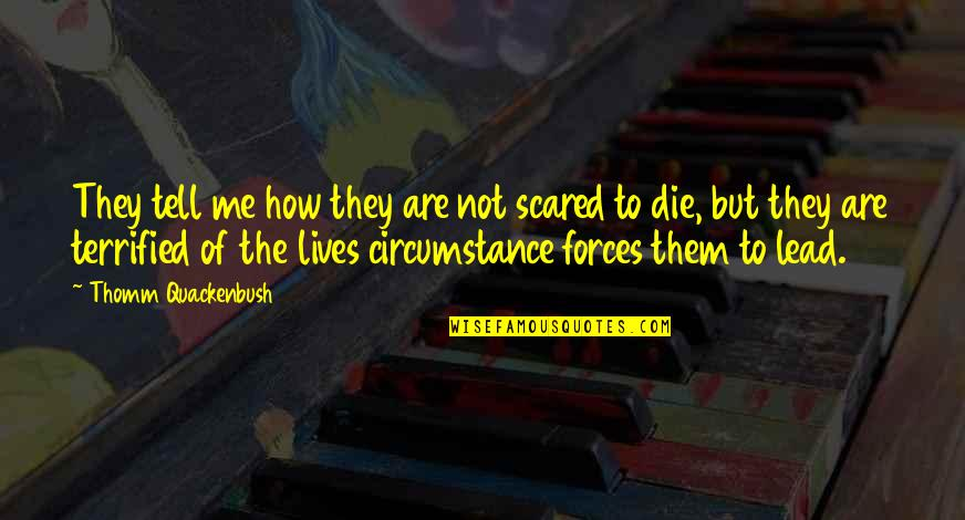 You Lead Me On Quotes By Thomm Quackenbush: They tell me how they are not scared