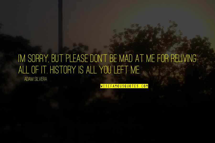 You Left Me Quotes By Adam Silvera: I'm sorry, but please don't be mad at