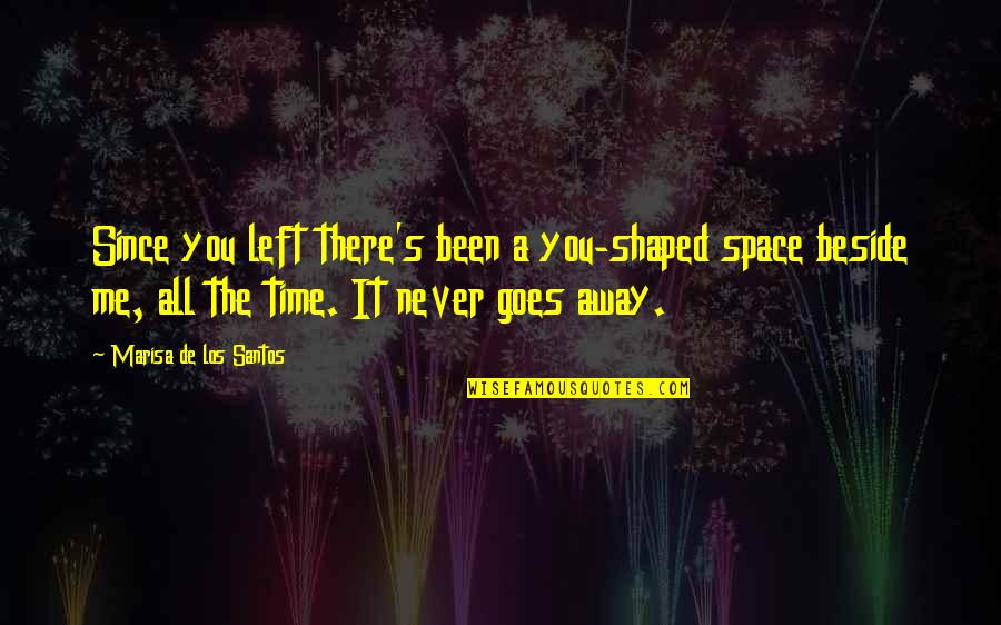 You Left Me Quotes By Marisa De Los Santos: Since you left there's been a you-shaped space