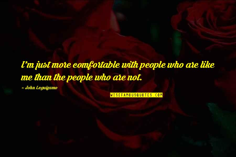 You Like Me For Who I Am Quotes By John Leguizamo: I'm just more comfortable with people who are