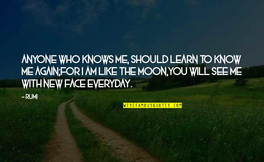 You Like Me For Who I Am Quotes By Rumi: Anyone who knows me, should learn to know