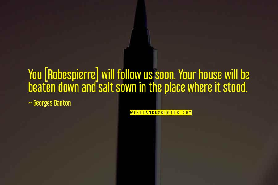 You Lost Me Forever Quotes By Georges Danton: You [Robespierre] will follow us soon. Your house