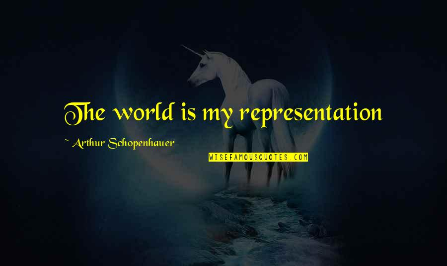 You Make It Look So Easy Quotes By Arthur Schopenhauer: The world is my representation