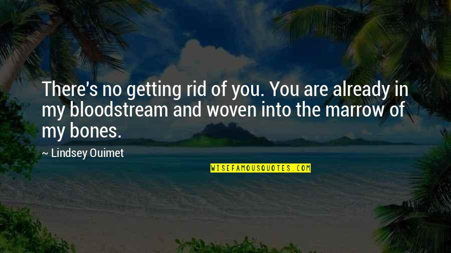 You My Soulmate Quotes By Lindsey Ouimet: There's no getting rid of you. You are