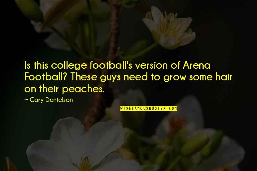You Need To Grow Up Quotes By Gary Danielson: Is this college football's version of Arena Football?