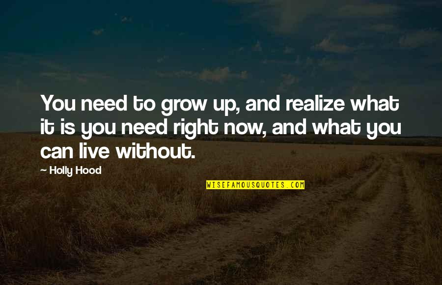You Need To Grow Up Quotes By Holly Hood: You need to grow up, and realize what