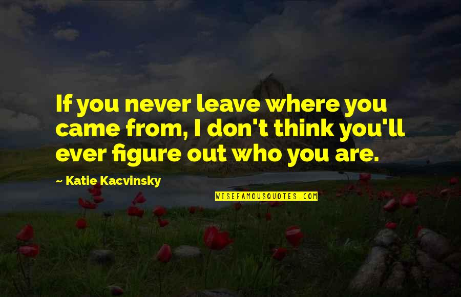 You Never Came Quotes By Katie Kacvinsky: If you never leave where you came from,