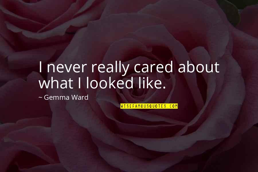 You Never Cared Quotes By Gemma Ward: I never really cared about what I looked