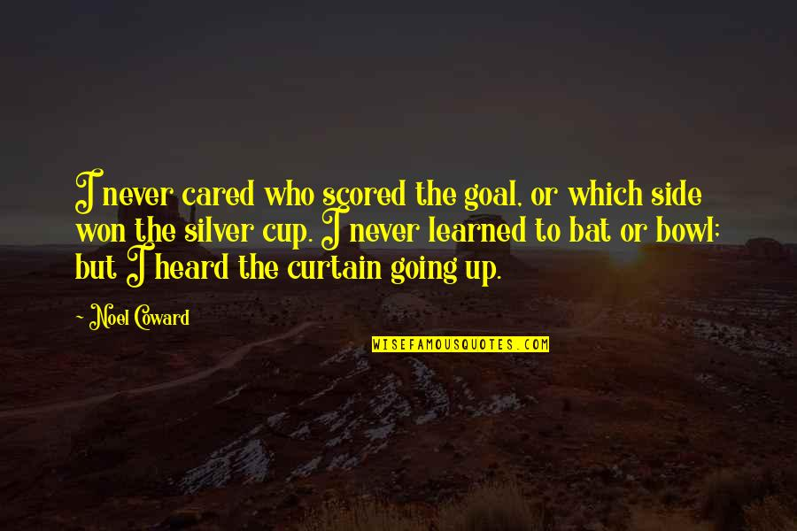 You Never Cared Quotes By Noel Coward: I never cared who scored the goal, or