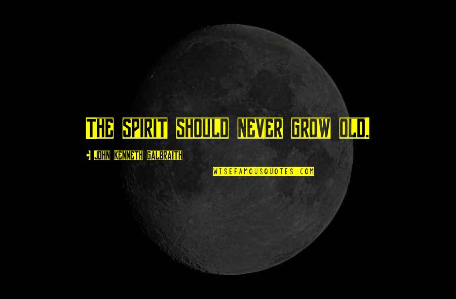 You Never Grow Up Quotes By John Kenneth Galbraith: The spirit should never grow old.
