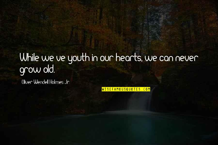 You Never Grow Up Quotes By Oliver Wendell Holmes Jr.: While we've youth in our hearts, we can