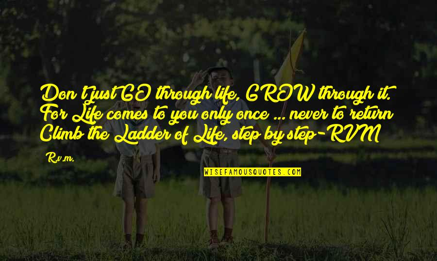 You Never Grow Up Quotes By R.v.m.: Don't just GO through life, GROW through it.