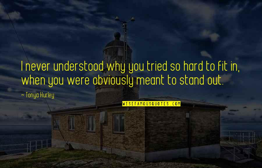 You Never Understood Quotes By Tonya Hurley: I never understood why you tried so hard