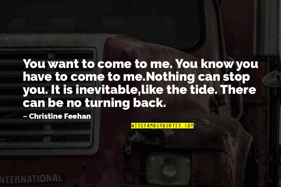 You Nothing To Me Quotes By Christine Feehan: You want to come to me. You know