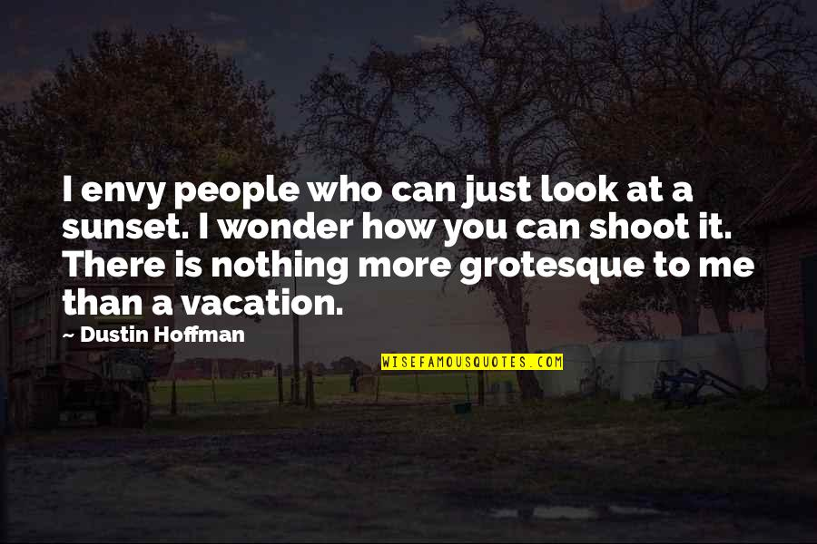 You Nothing To Me Quotes By Dustin Hoffman: I envy people who can just look at