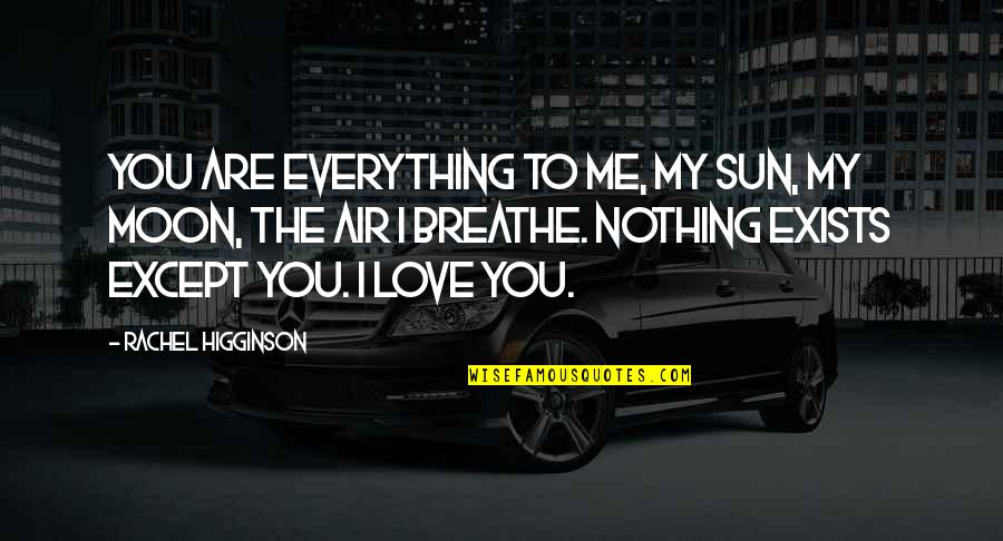 You Nothing To Me Quotes By Rachel Higginson: You are everything to me, my sun, my