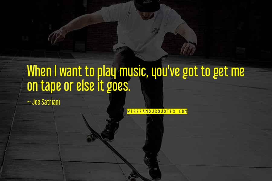 You Play Me I Play You Quotes By Joe Satriani: When I want to play music, you've got