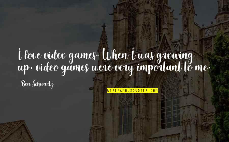 You So Important Me Quotes By Ben Schwartz: I love video games. When I was growing