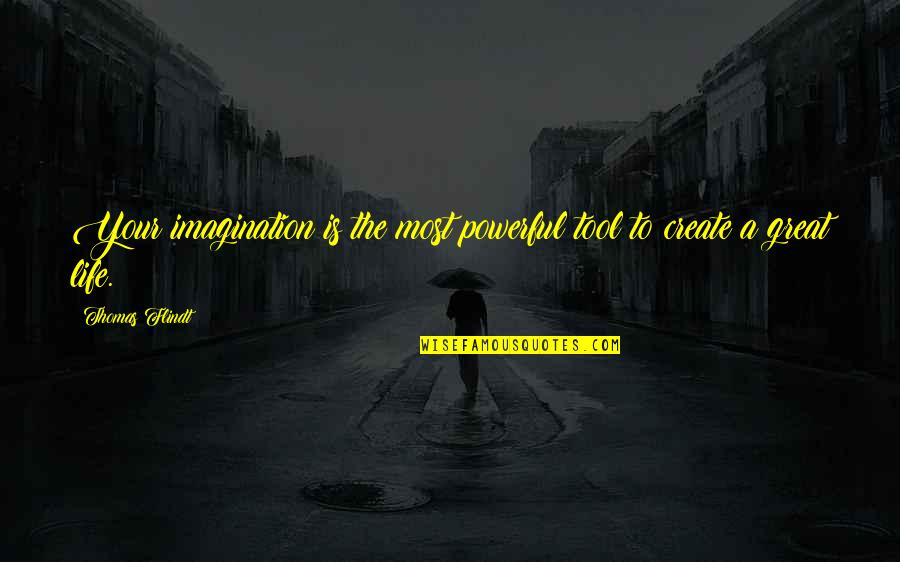 You Taught Me A Lesson Quotes By Thomas Flindt: Your imagination is the most powerful tool to