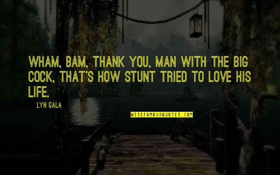 You Tried Quotes By Lyn Gala: Wham, bam, thank you, man with the big
