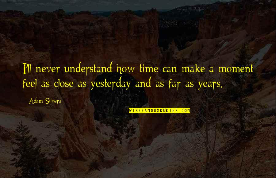 You'll Never Understand How I Feel Quotes By Adam Silvera: I'll never understand how time can make a