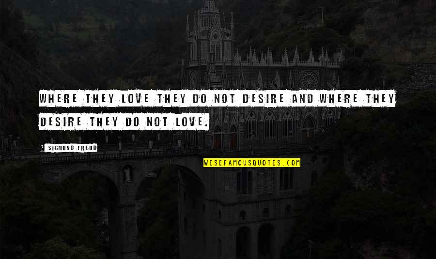 Young Couples In Love Quotes By Sigmund Freud: Where they love they do not desire and