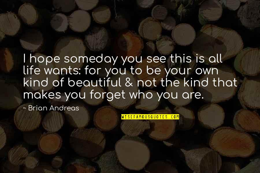 Your Beautiful Life Quotes By Brian Andreas: I hope someday you see this is all