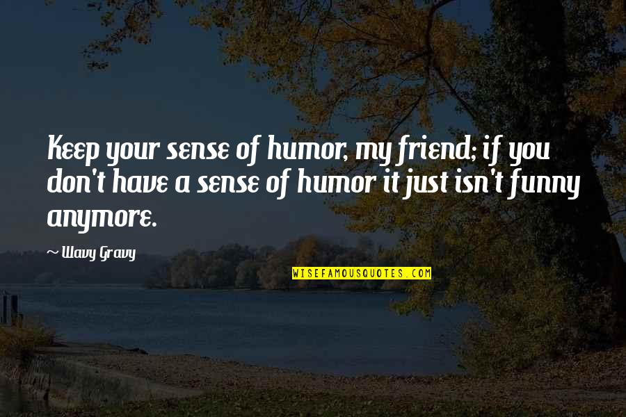 Your Best Friend Funny Quotes By Wavy Gravy: Keep your sense of humor, my friend; if