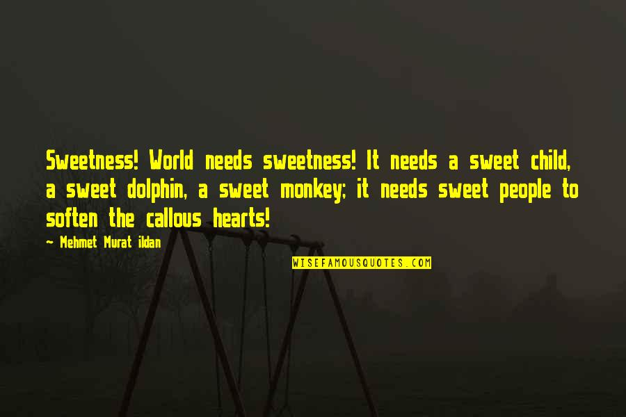 Your Child Needs You Quotes By Mehmet Murat Ildan: Sweetness! World needs sweetness! It needs a sweet
