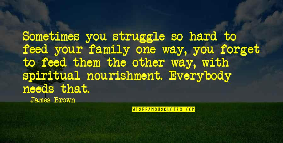 Your Family Needs You Quotes By James Brown: Sometimes you struggle so hard to feed your