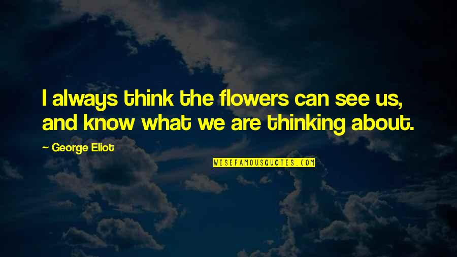 Your Favorite Nsync Quotes By George Eliot: I always think the flowers can see us,